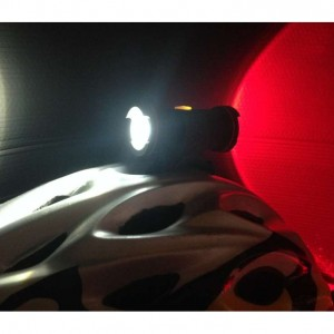 Dual front and rear facing light keeping you visible in traffic.